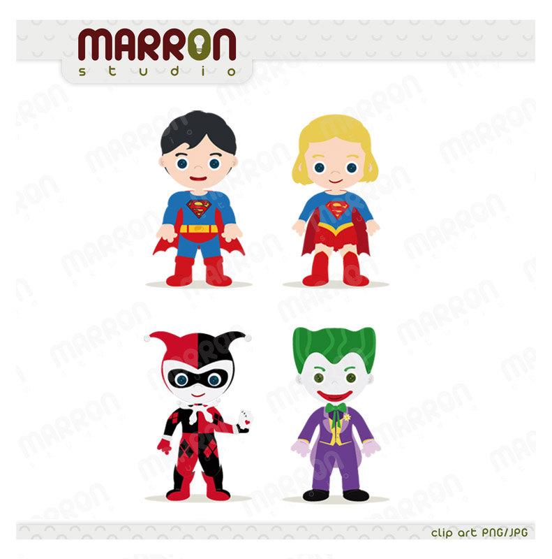Heroins Superhero Inspired se - Harley Quinn Clipart