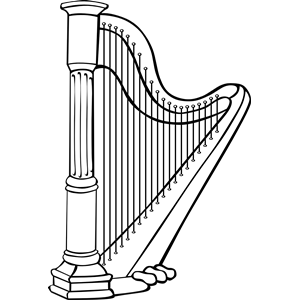 Harp clipart cliparts of free download wmf emf svg