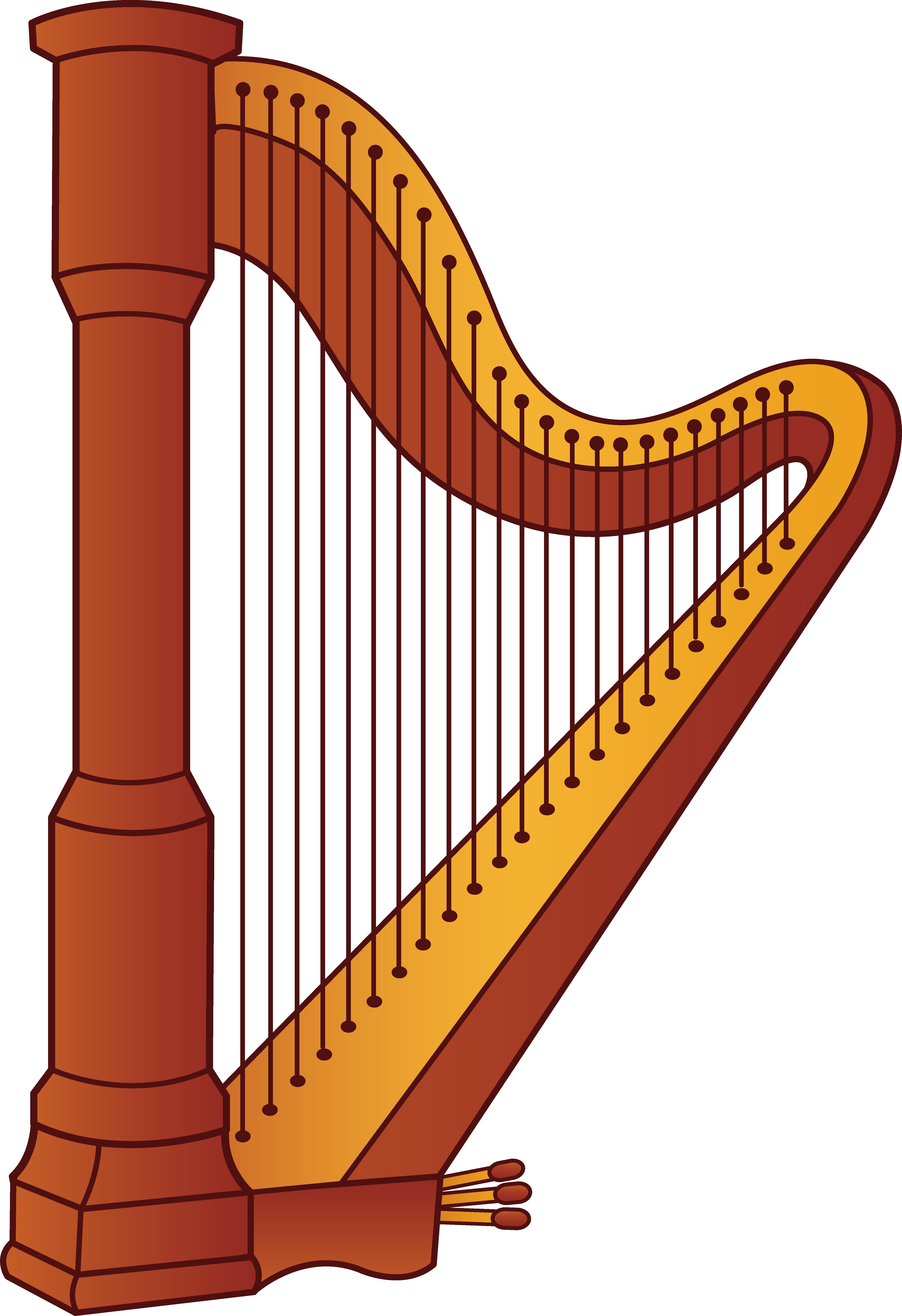 Harp Silhouette clip art. Harp cliparts
