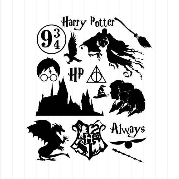 INSTANT Harry Potter Clipart - Harry Potter Svg Cut Files, Harry Potter Svg, Harry  Potter Clipart, Harry Potter Silhouette Svg, Harry Potter Svg Files