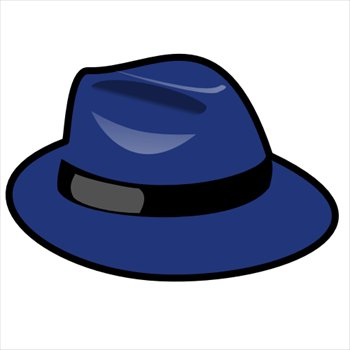 blue-fedora - Hat Clipart