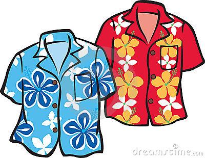 hawaiian shirt clip art