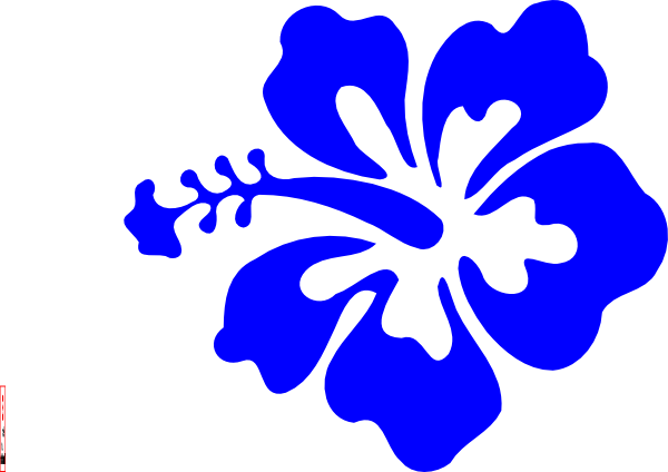 Blue Hawaiian Flower Clipart #1