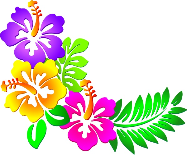 Clipart Hawaiian Flower Clipa - Hawaiian Flower Clipart