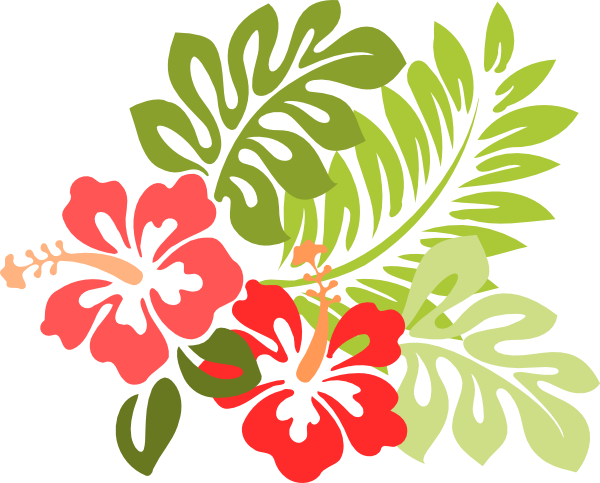 Hawaiian Flower Clipart this image as:
