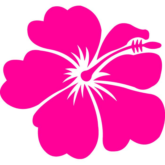 Hawaiian flower clip art flow - Hawaiian Flower Clipart
