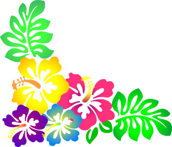 Hawaiian flower clipart borde - Hawaiian Flower Clipart