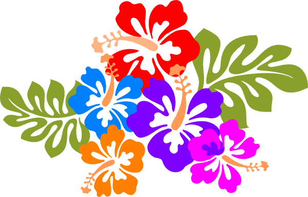 Hawaiian Flower Clipart - PNG Image #6575