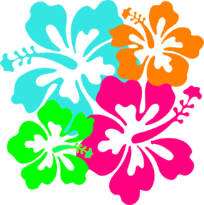 Hawaiian Flower Free Clipart  - Hawaiian Flower Clipart