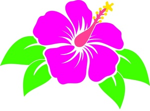Tropical Flower Clipart Image - Hawaiian Flower Clipart