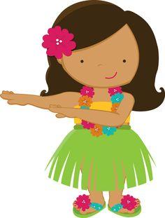 Hawaiian girl clipart