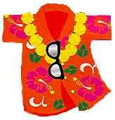 Hawaiian Shirt Clip Art Orange .