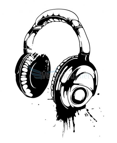 Headphones Clip Art Free. Vector Headphone