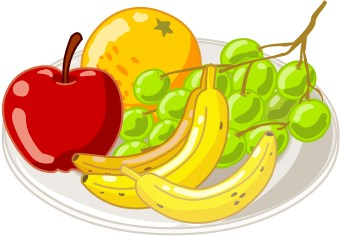 Healthy Snack Time Clipart #1