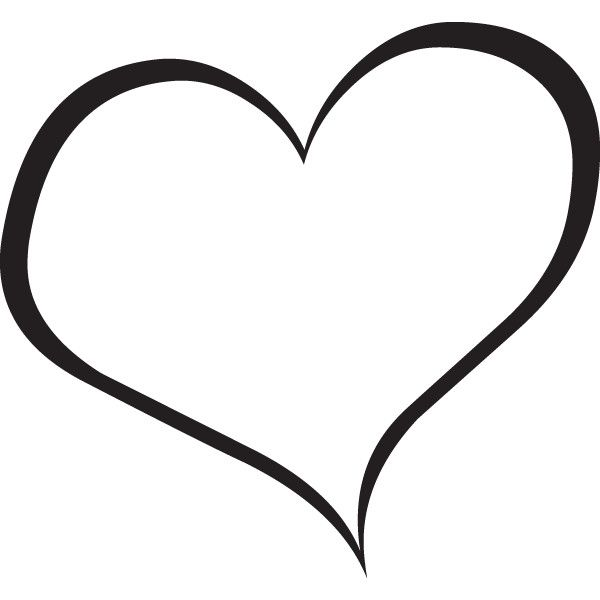 heart clipart black and white - Heart Clipart