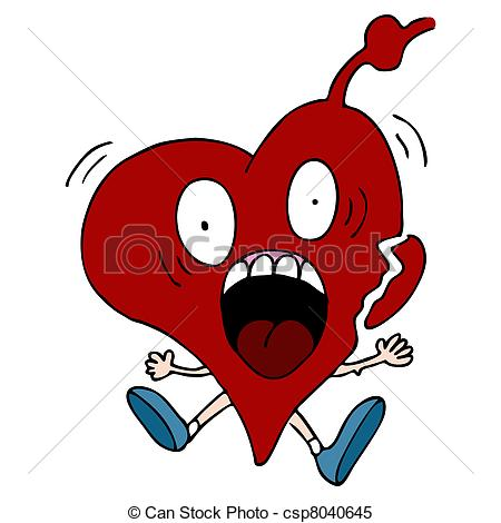 ... Heart Attack Cartoon Character - An image of a heart attack.