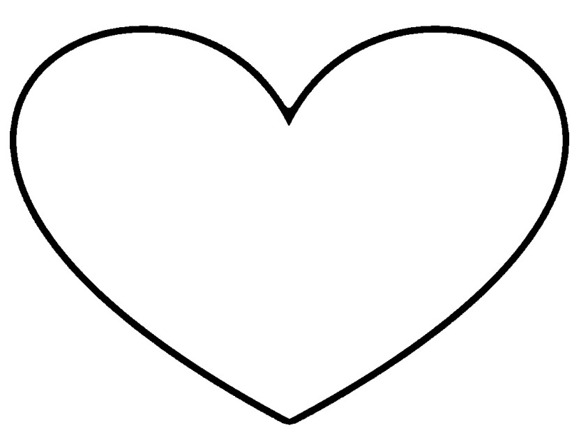 Heart black and white black and white heart clipart 2