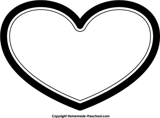 Heart black and white free black and white heart clipart 4