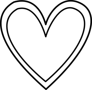 Heart black and white heart clipart black and white