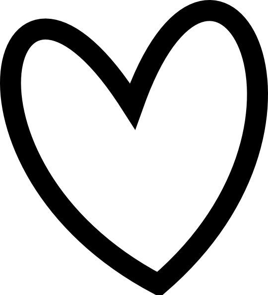 Heart clipart black and white .