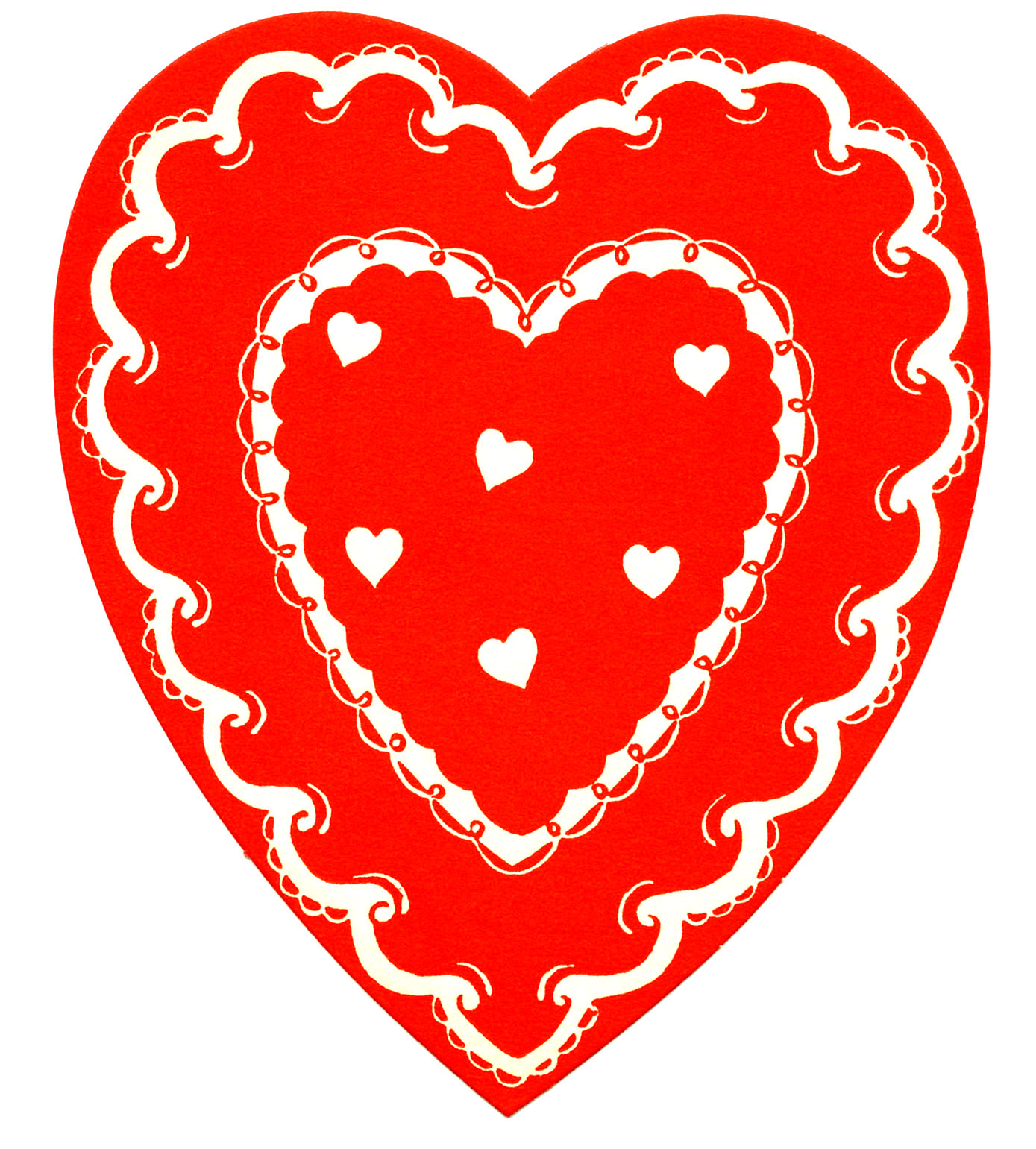 Heart Clipart Image: Red Heart. Vintage Valentine