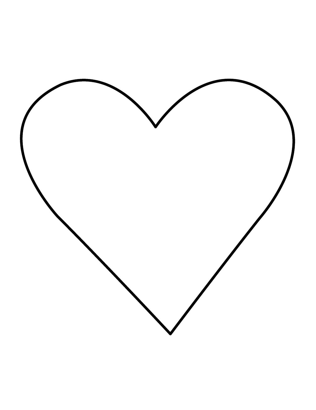 Clip Art Heart Outline - Heart Images Clipart