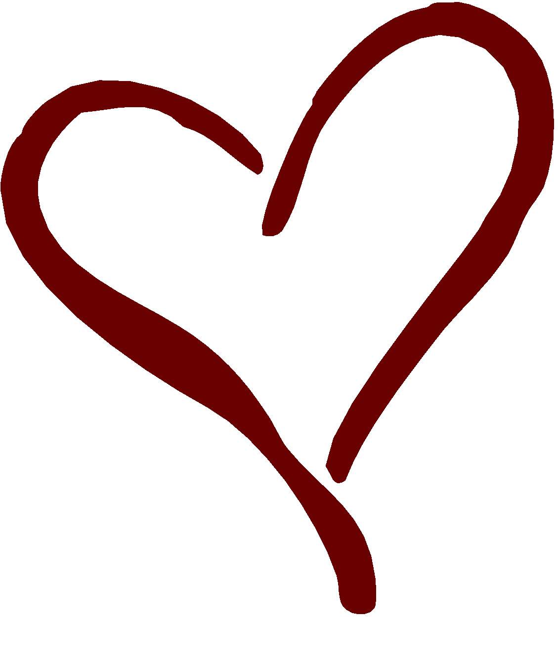 Heart Outline Clip Art Di7exgg4t Jpeg