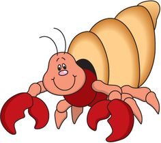 Hermit Crab Clip Art - .