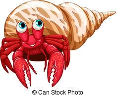... Hermit crab - Illustration of a single hermit crab Hermit crab Clip Artby ...