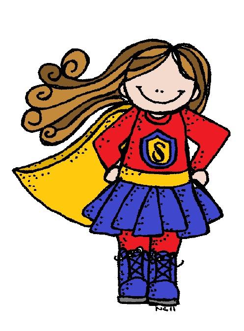 Girl Hero Clipart #1