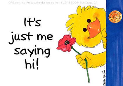 Just Saying Hi Clipart #1
