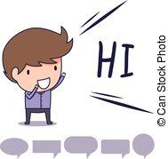 . hdclipartall.com man say hi - man standing greeting and say hi with text. hdclipartall.com hdclipartall.com