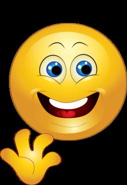 Yellow Hi Happy Smiley Emoticon