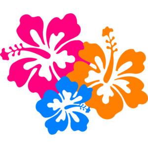 Hibiscus Flower 6 clip art - .