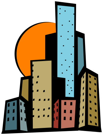 High building clipart
