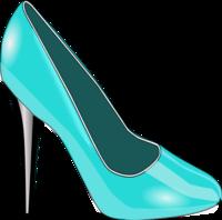 High heels woman shoe fashion vector clip art