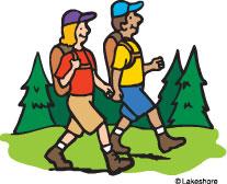 Hiking clipart kid