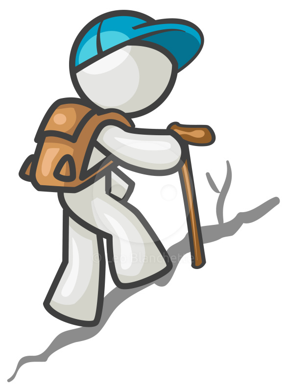 Hiking hiker clipart 2 image