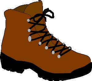 hiking shoes clip art