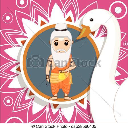 Cartoon Rishi - Hinduism - csp28566405