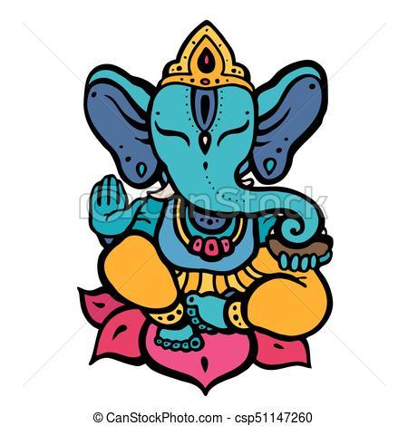 Hindu God Ganesha - csp51147260