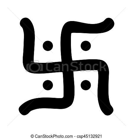 hindu swastika symbol - csp45132921