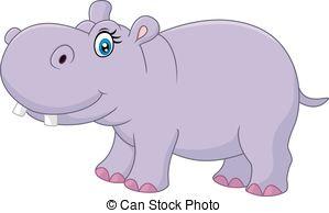 Cute hippo - Hippo Clipart