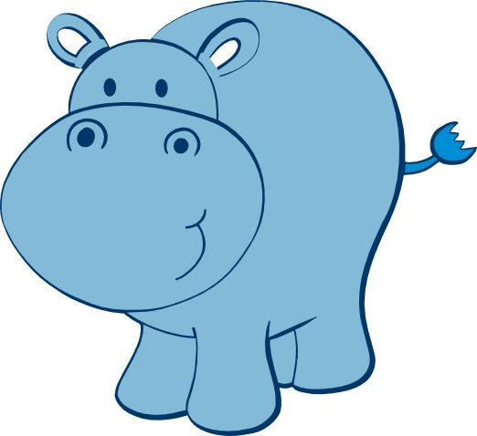 Cute Hippo Clipart