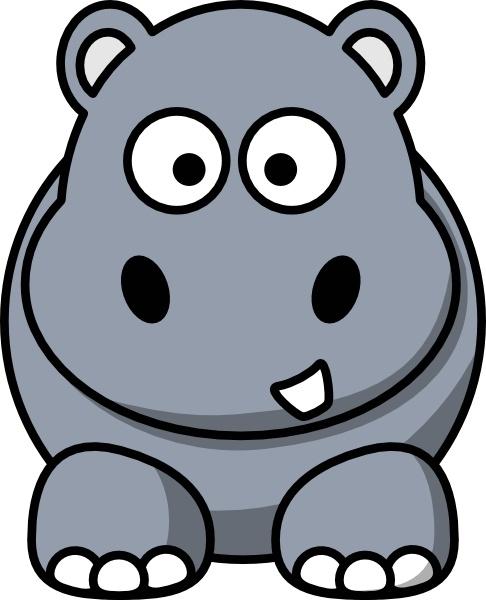 Hippo clip art Free vector 120.03KB