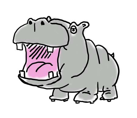 Hippo clipart free images 4