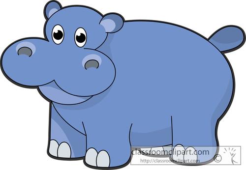 Hippo Clipart Hippopotamus Animal Character Ga2 Classroom Clipart