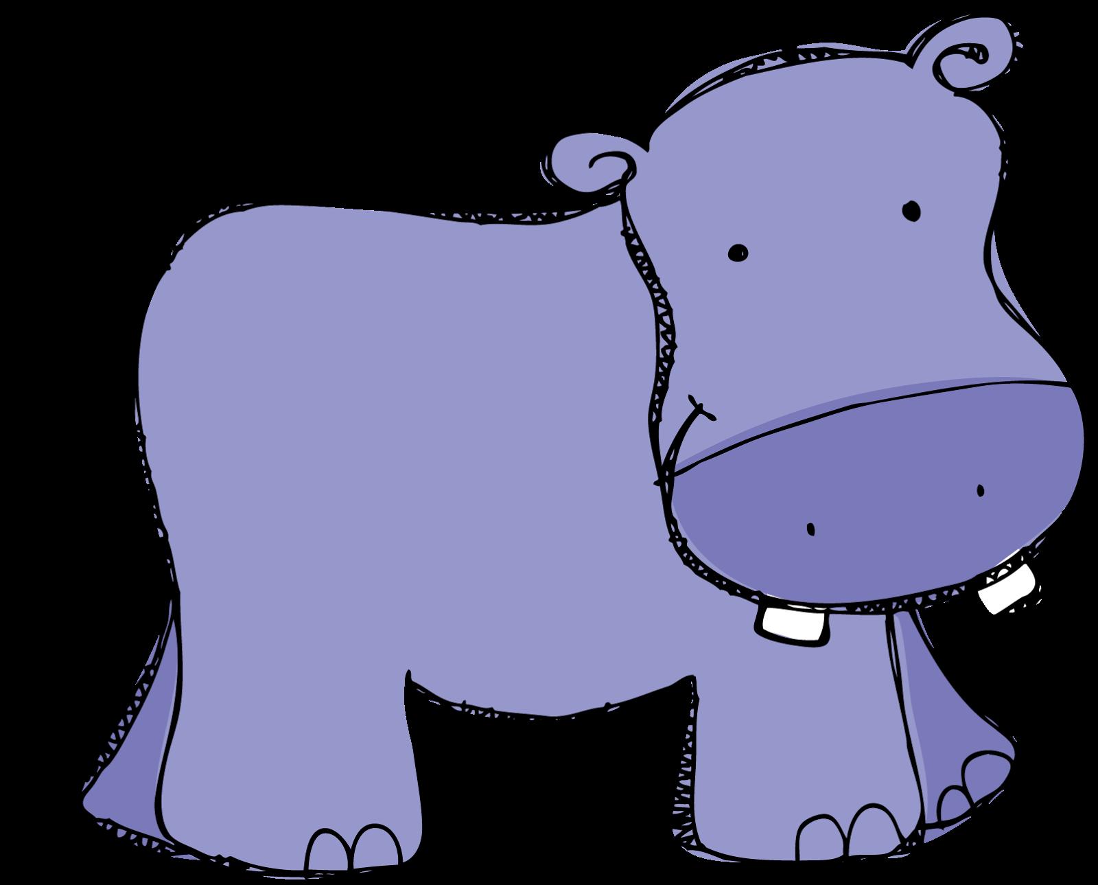 Purple hippo clipart kid