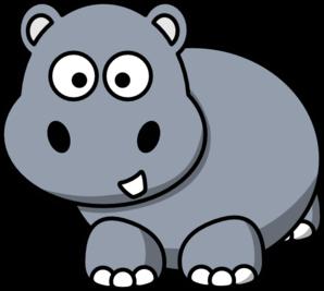 Side Hippo Clip Art