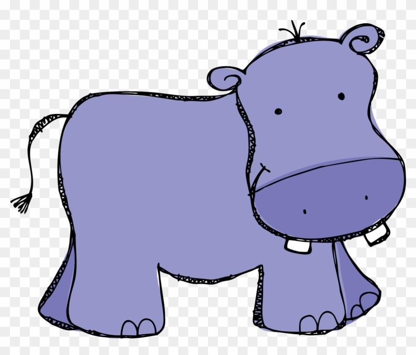Purple Hippo Clipart Kid - Clip Art Hippo